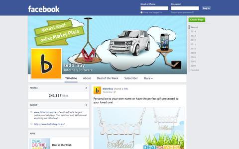 Screenshot of Facebook Page facebook.com - bidorbuy | Facebook - captured Oct. 23, 2014
