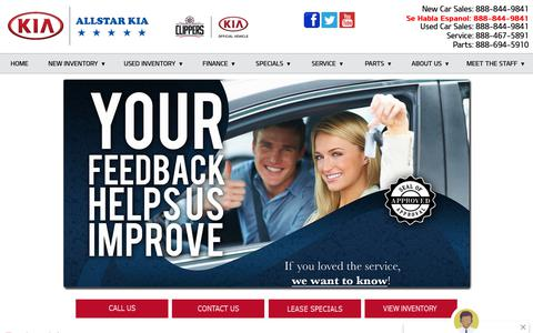 Screenshot of Testimonials Page allstarkiasanbernardino.com - Read Customer Reviews of Allstar Kia San Bernardino - captured Nov. 12, 2018