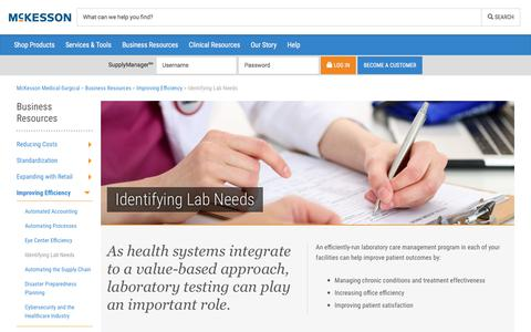 Identifying Lab Needs - McKesson Medical-Surgical