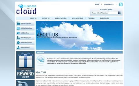 Screenshot of About Page businessonacloud.com - ABOUT US - Business on a Cloud - captured Sept. 30, 2014