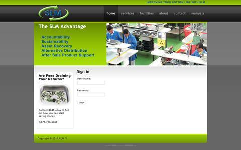 Screenshot of Login Page slm-iq.com - SLM Users Page - captured Dec. 9, 2015