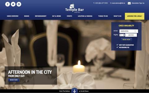 Screenshot of Privacy Page templebarhotel.com - Hotel Dublin,  Hotels in Dublin, Temple Bar Hotel Dublin - captured Feb. 10, 2016
