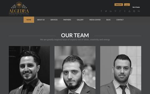 Screenshot of Team Page algedra.ae - Our Team | ALGEDRA Interior Design Consultancy - captured Oct. 31, 2014