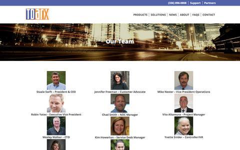 Screenshot of Team Page tdarx.com - Our Team | TDArx - captured Oct. 20, 2017
