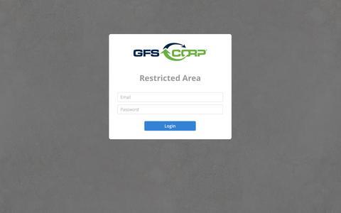 Screenshot of Login Page gfs-corp.com - GFS Corp - User Login - captured Oct. 28, 2014