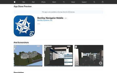 Bentley Navigator Mobile on the App Store