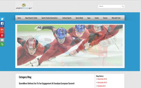 Screenshot of Blog sportstechie.net - Blog | Sports  Techie - captured Dec. 21, 2016