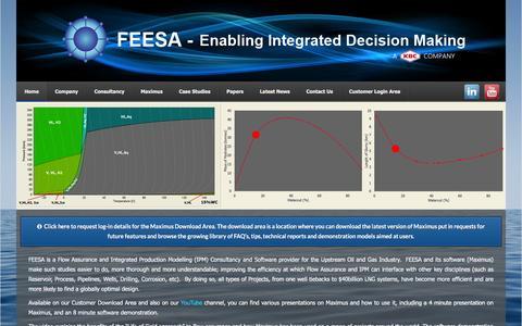Screenshot of Home Page feesa.net - FEESA Web - captured Feb. 9, 2016