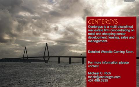 Screenshot of Home Page centergys.com - CENTERGYS - captured Sept. 29, 2014