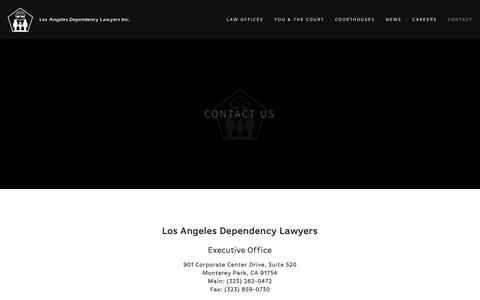 Screenshot of Contact Page ladlinc.org - Contact — Los Angeles Dependency Lawyers - captured Sept. 30, 2018