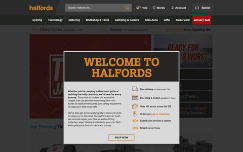 Halfords | Bikes | Sat Navs | DAB Radios | Car Seats | Car Maintenance