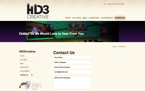 Screenshot of Contact Page Maps & Directions Page hd3av.com - contact us - captured Oct. 22, 2014