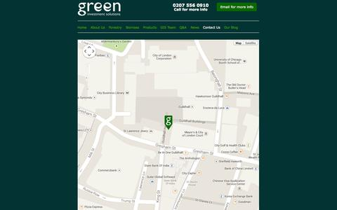 Screenshot of Contact Page greenis.co.uk - Contact Details for Green Investment Solutions - captured Nov. 5, 2014