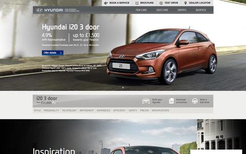 Hyundai i20 3 Door 2016: Small Hatchback   Hyundai UK