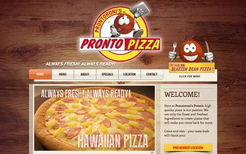 Screenshot of Home Page prontoroni.com - Prontoroni Pronto - captured Sept. 12, 2017