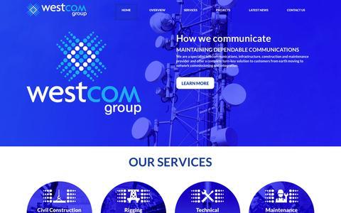 Screenshot of Home Page westcomgroup.com.au - Westcom - captured Dec. 15, 2016
