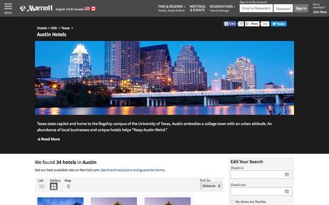 Find Austin Hotels by Marriott