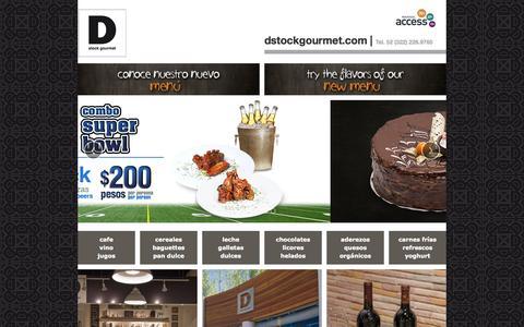 Screenshot of Home Page dstockgourmet.com - D stock gourmet   Residences Plaza Nuevo Vallarta - captured Jan. 28, 2015