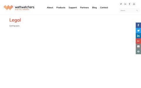 Screenshot of Terms Page wattwatchers.com.au - Legal - captured Nov. 6, 2017