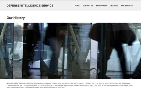 Screenshot of About Page defenseintelligence.net - Our History | Defense Intelligence Service - captured Feb. 8, 2016