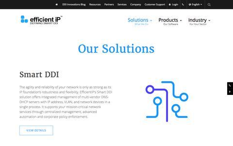 Screenshot of efficientip.com - DDI And Network Management Solutions | EfficientIP - captured May 31, 2017