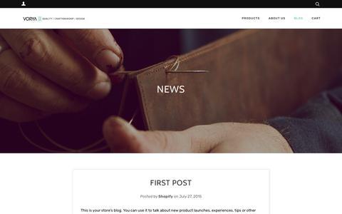 Screenshot of Press Page vorya.com - News – VORYA - captured Dec. 10, 2018