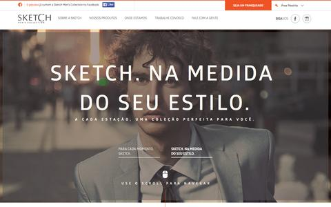 Screenshot of Home Page sketch.com.br - Sketch Moda Masculina - captured Sept. 18, 2015