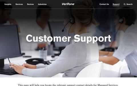 Screenshot of Support Page verifone.com - Customer Support | Verifone.com - captured Nov. 8, 2018