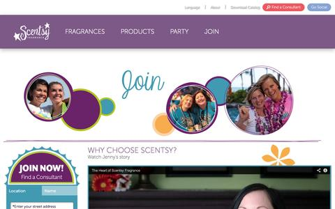 Screenshot of Signup Page scentsy.com - Home Party Businesses & Fun Direct Selling Company | Join Scentsy - captured Sept. 18, 2014
