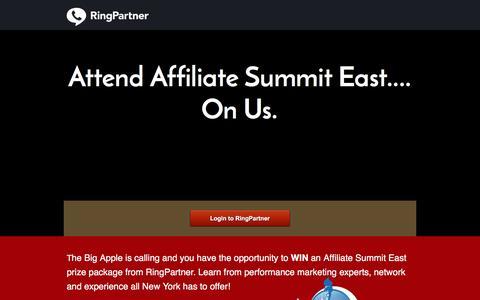 Screenshot of Landing Page ringpartner.com captured Oct. 14, 2016