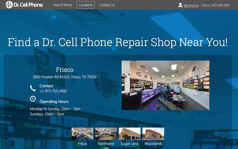 Screenshot of Locations Page drcellphone.com - Find a Dr. Cell Phone iPhone Repair Expert Near  You! - captured Aug. 7, 2018
