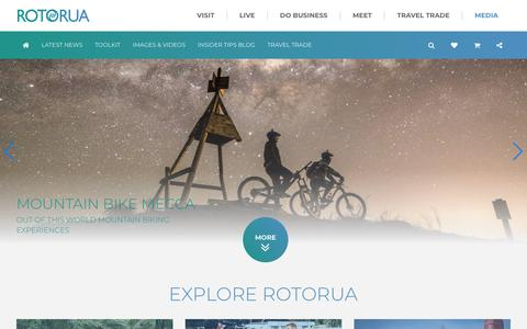 Screenshot of Press Page rotoruanz.com - Rotorua NZ | Rotorua Media | Destination Rotorua Marketing - captured March 5, 2018