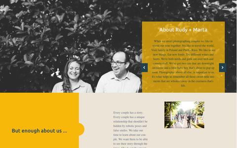 Screenshot of About Page rudyandmarta.com - About Us - Orlando Wedding Photography - captured Feb. 22, 2016