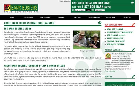 Screenshot of About Page barkbusters.com - About Bark Busters Home Dog Training & Obedience Behaviour Trainers - captured Oct. 10, 2017