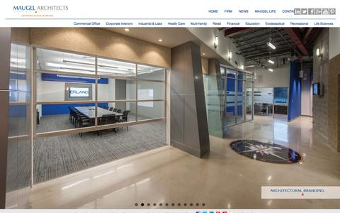 Screenshot of Home Page maugel.com - Commercial Architects | Maugel Architects - captured Nov. 3, 2015