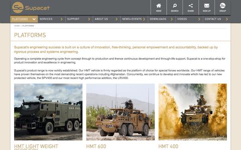 Screenshot of Products Page supacat.com - Platforms - Supacat - High mobility vehicles - captured Sept. 21, 2018