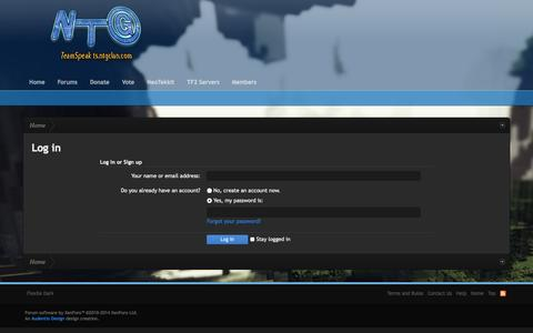 Screenshot of Login Page ntgclan.com - Log in | Night Time Gaming - captured Nov. 1, 2014
