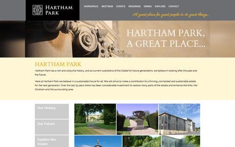 Screenshot of About Page harthampark.com - Hartham Park | Hartham Park - captured Dec. 7, 2015