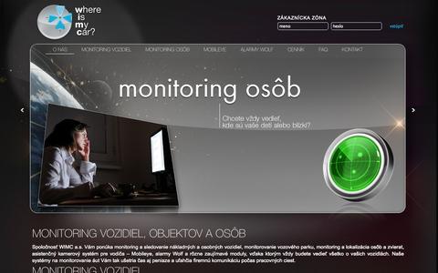 Screenshot of Press Page wimc.sk - WIMC - monitoring vozidiel - captured Oct. 26, 2014