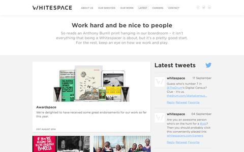 Latest News - Whitespace