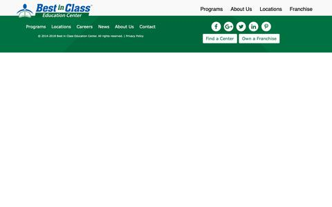 Screenshot of Locations Page bestinclasseducation.com - Locations | Best in Class Education Center - captured Oct. 16, 2018