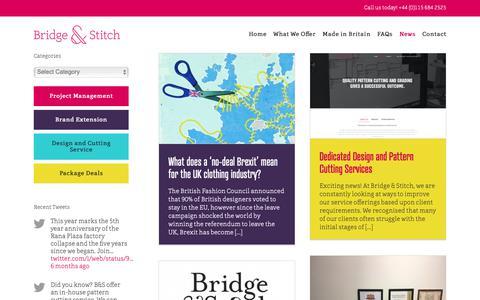 Screenshot of Press Page bridgeandstitch.com - News – Bridge & Stitch - captured Oct. 6, 2018