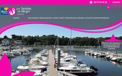 Screenshot of Locations Page lesjardinsdekergal.com - Camping à Guidel : location de mobil home près de Lorient en Bretagne Sud  - Les Jardins de Kergal | Camping 4 étoiles - captured July 11, 2018