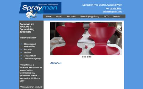 Screenshot of About Page sprayman.co.nz - About Us - Sprayman Auckland - captured Oct. 20, 2018