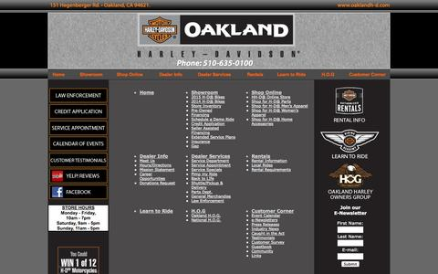 Screenshot of Site Map Page oaklandh-d.com - Oakland Harley-Davidson - Bay Area - California Harley-Davidson Motorcycle Dealership - Learn To Ride Here - captured Oct. 27, 2014