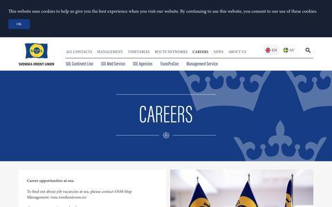Screenshot of Jobs Page sollines.se - Careers   Svenska Orient Linien - captured Dec. 1, 2016