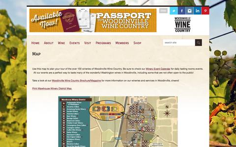 Screenshot of Maps & Directions Page woodinvillewinecountry.com - Woodinville Wine Country | Map - Woodinville Wine Country - captured Feb. 23, 2016
