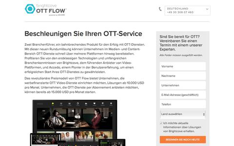 Screenshot of Landing Page brightcove.com - Brightcove | Beschleunigen Sie Ihren OTT-Service - captured April 13, 2018
