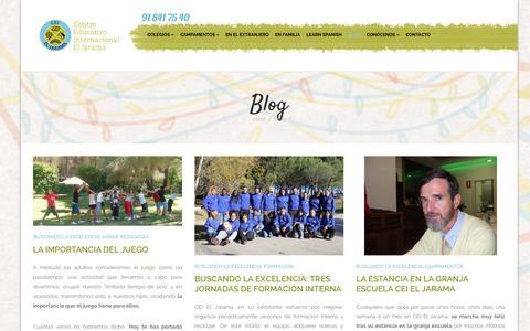 Screenshot of Blog ceieljarama.com - Blog - CEI El Jarama - captured Jan. 26, 2016