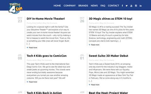 Screenshot of Blog tech4kids.com - Tech 4 Kids » Blog - captured Feb. 14, 2016
